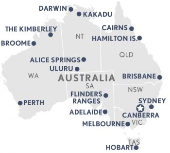 Clear Map Of Australia.Luxury Holidays In Australia Luxury Travel From A K